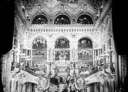 Interior of the Paris Opera House from the 1925 production of The Phantom of the Opera.